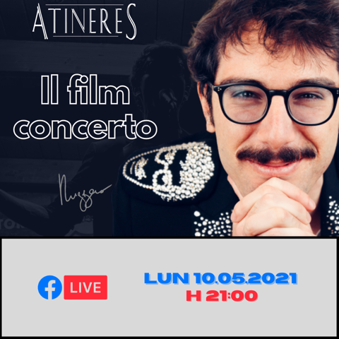 """RUGGERO LIVE IN STREAMING  """"ATINERES""""  QUESTO FILM CHE SI CHIAMA VITA"""