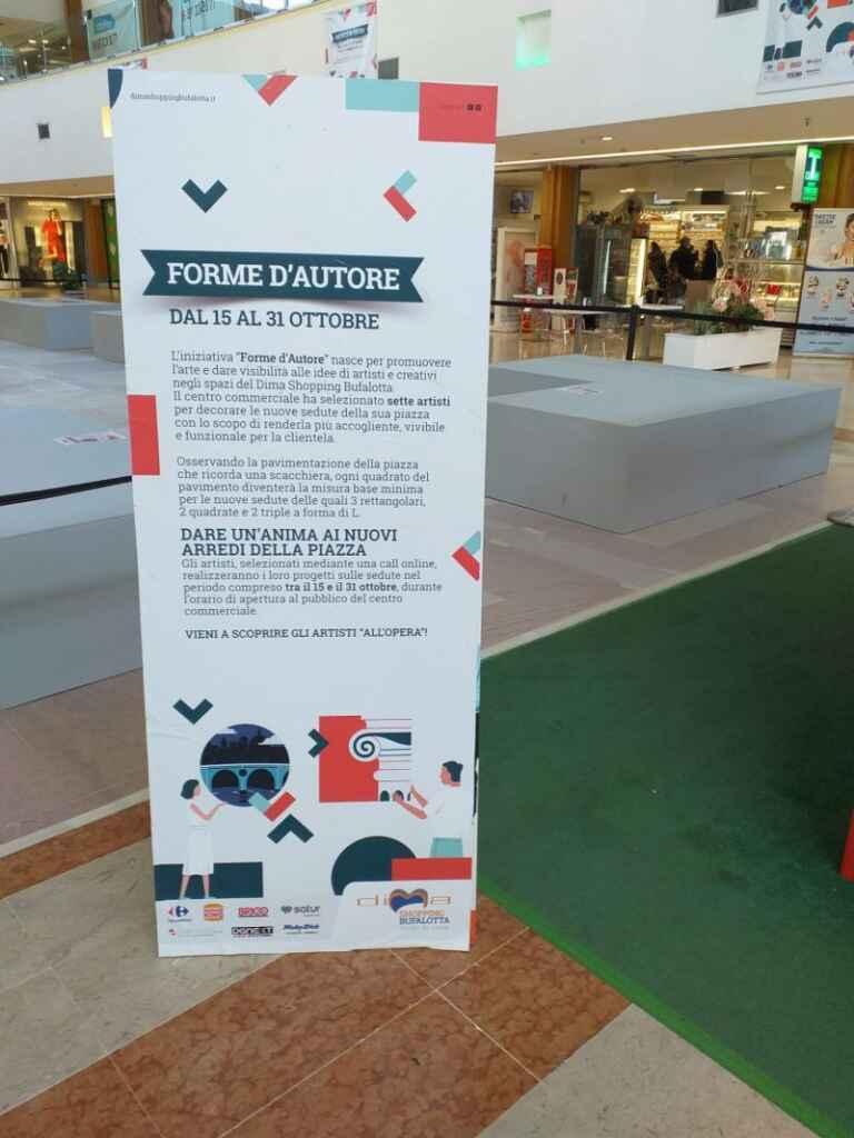 """Artisti e clienti trasformano il """"Dima Shopping"""" a Talenti: dal 15 al 31 ottobre l'evento """"Forme d'autore"""""""